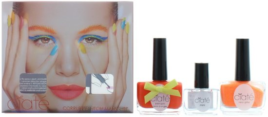 Foto van Ciaté corrupted neon manicure orange Nail Art kit