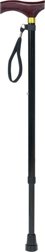 Aidapt wandelstok houten handvat - verstelbaar