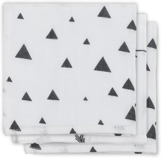 Monddoekje hydrofiel Indians black & white (3pack)