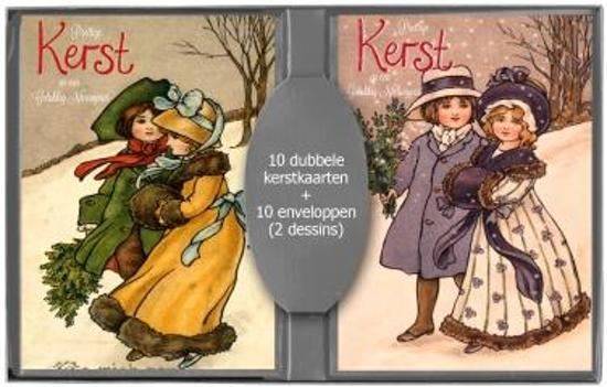 50 stuks Kerstkaarten - Nieuwjaarskaarten - Nostalgische - Vintage met envelop | 5 pakjes | serie 15-4