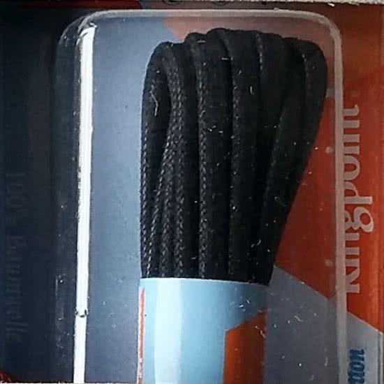 2.5 mm x 120cm Zwart Fashion Ronde wax veter 120 cm zwart 68