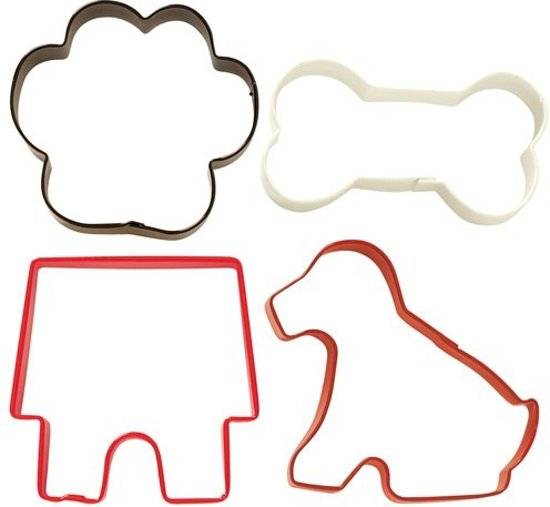 Wilton Cookie Cutter Pet Theme set/4