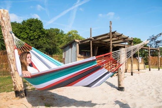 Hangmat - Cartagena - Koraal - Grijs - Met bevestigingsset - Luilak