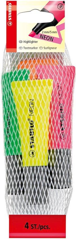 STABILO NEON markeerstift - Etui 4 kleuren