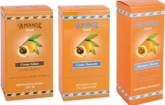 L'Amande Soleil Voordeelset - Zonnecrème SPF 10 150 ml + Aftersun 150 ml + After Swim 250 ml