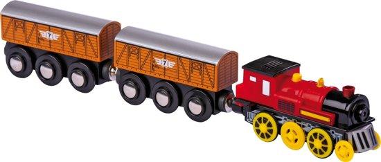 Elektrische Trein met 2 aanhangwagens