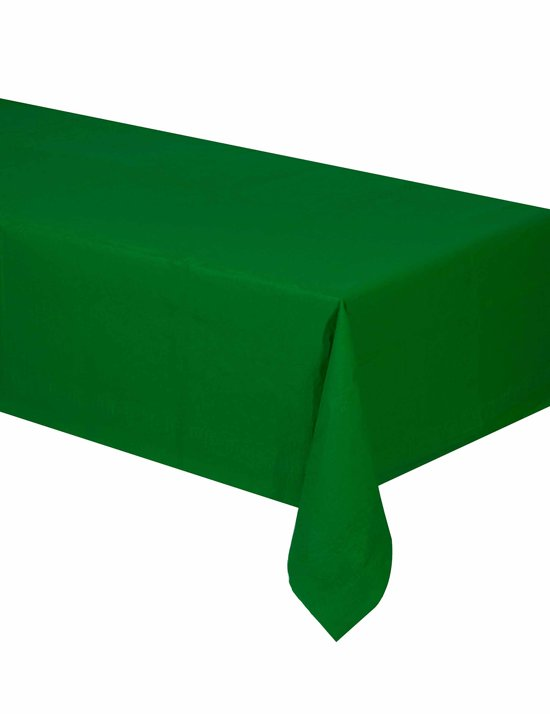 Groen papieren tafelkleed - Feestdecoratievoorwerp