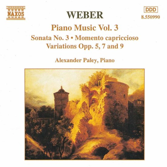 Weber: Piano Works Vol 3 / Alexander Paley