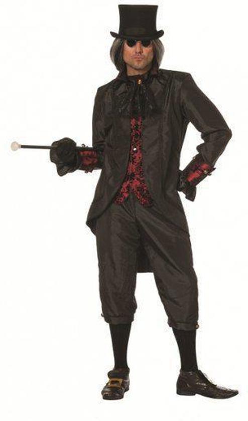 | Zwart steampunk kostuum voor heren 50 (m), Fun