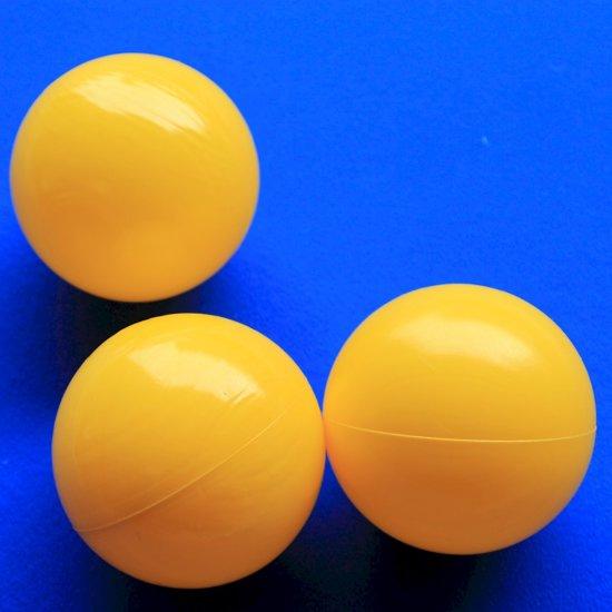 Ballenbakballen 70mm Geel - 1000 stuks