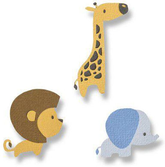 Sizzix Thinlits Die Set - 9PK Baby Jungle Animals 663580 Jordan Caderao (01-19)