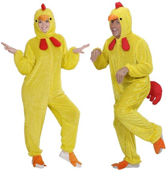Kip & Haan & Kalkoen & Kuiken & Eend Kostuum | Hilarisch Pluche Kuiken | Volwassen | Medium / Large | Carnaval kostuum | Verkleedkleding