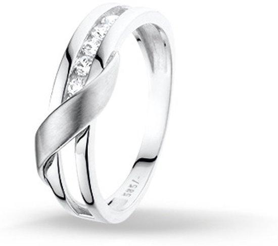 Huiscollectie 4102444 Witgouden zirkonia ring