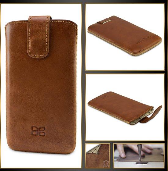 Bouletta Lederen Samsung Galaxy S7 Edge Hoesje - Sleeve insteekhoesje - Rustic Cognac