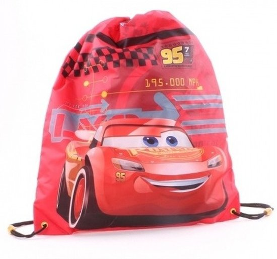 b90c79bd69a Disney Cars Bliksem McQueen rugtas/gymtas met rijgkoord -  Gymtassen/zwemtassen/rugtasjes met