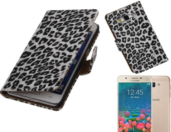 MP Case Chita Bookstyle Hoes voor Galaxy Prime G530F Wit in Leutes
