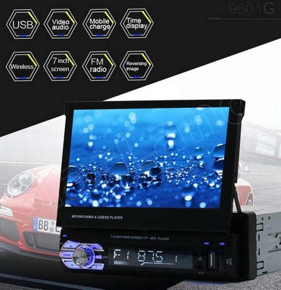 Touchscreen autoradio klapscherm inclusief achterruitkijk camera 1 Din in Linde