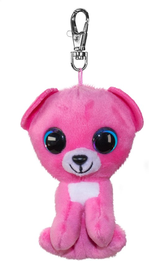 Lumo Bear Raspberry met clip - Mini - 8,5cm