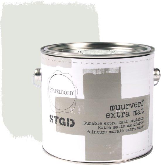Stapelgoed - Muurverf extra mat - Salt - Grijs - 2,5L