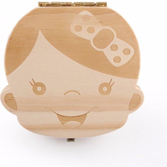 Tanden opbergdoosje | melktanden | houten tandendoosje | tandenfee | meisje