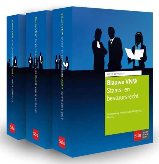 Blauwe VNW Verzameling Nederlandse Wetgeving 2016 2017