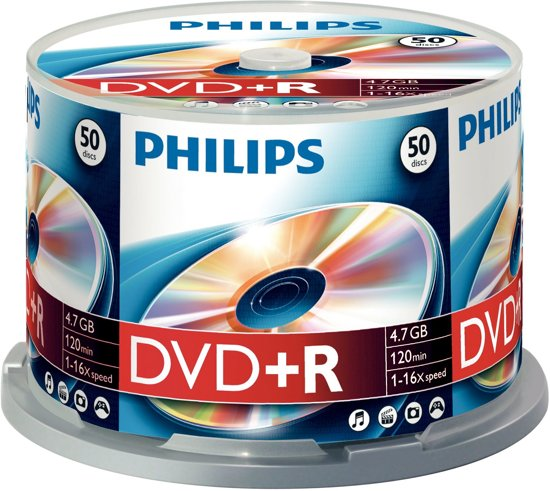 Philips DVD+R 4.7 GB 50 stuks
