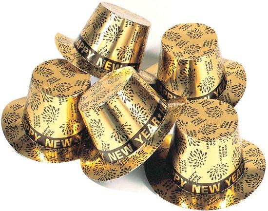 Happy New Year Hoed Hoog Goud