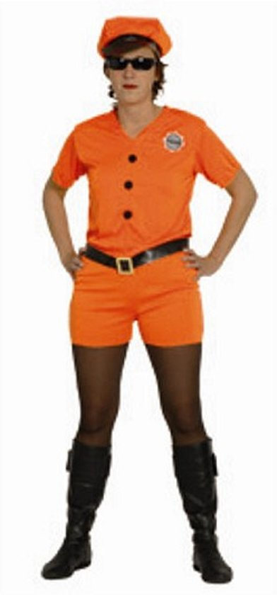 kostuum oranje police squad