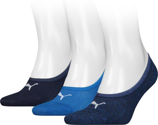 Puma - Sneaker Sokken 3-Pack Blauw - 43-46