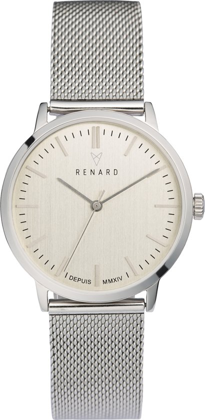 Renard Elite White Silver Mesh RA361SS01MSS - Horloge - Staal - Zilver - Ø 35.5 mm