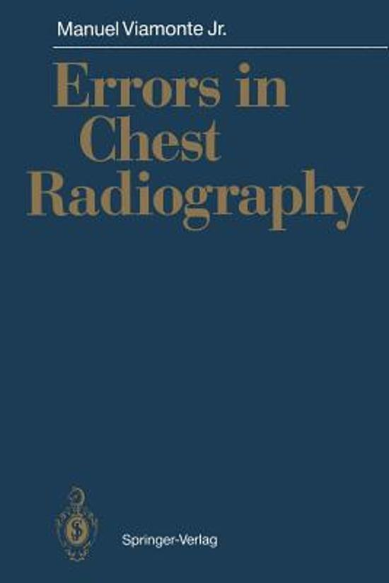 Errors in Chest Radiography