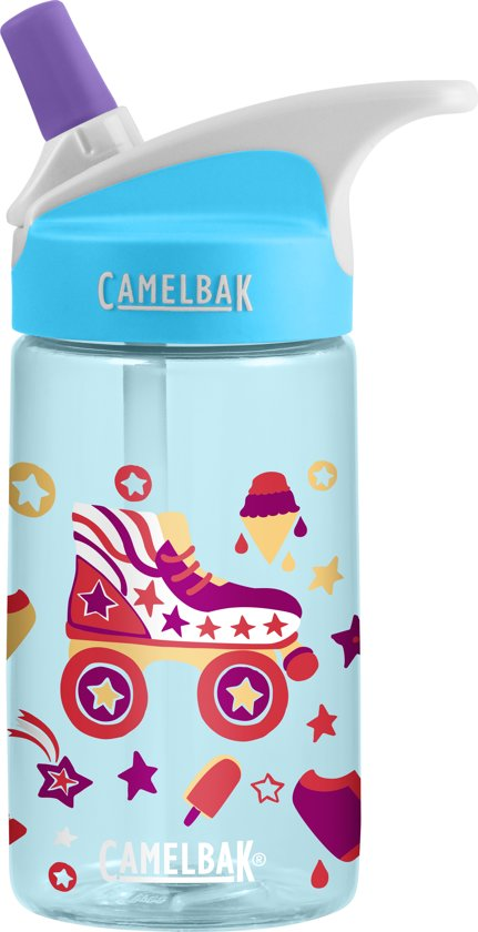 19bff56b4fa bol.com   CamelBak Eddy Kids Drinkfles - 400 ml - Blauw (Roller Skates)
