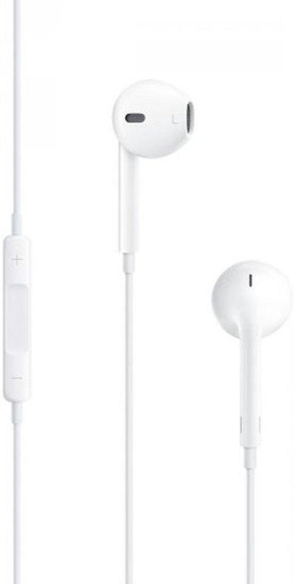 Oordopjes geschikt voor iPhone 4/4s 5/5s 6/6s 6 plus – Wit met microfoon en volumeregelaar