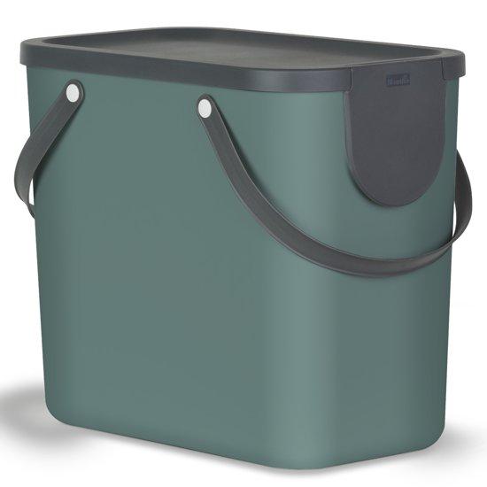 Design Afvalemmer Rotho.Rotho Afvalscheidingsprullenbak Albula 25 Liter Wit