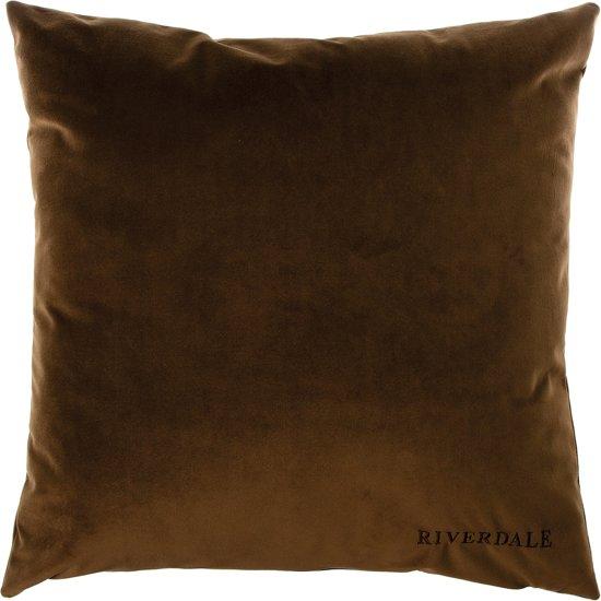 Riverdale Chelsea - Kussen - 45x45cm - bruin