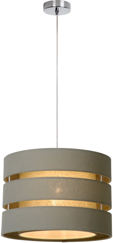 Lucide TONIO - Hanglamp - Ø 35 cm - Taupe