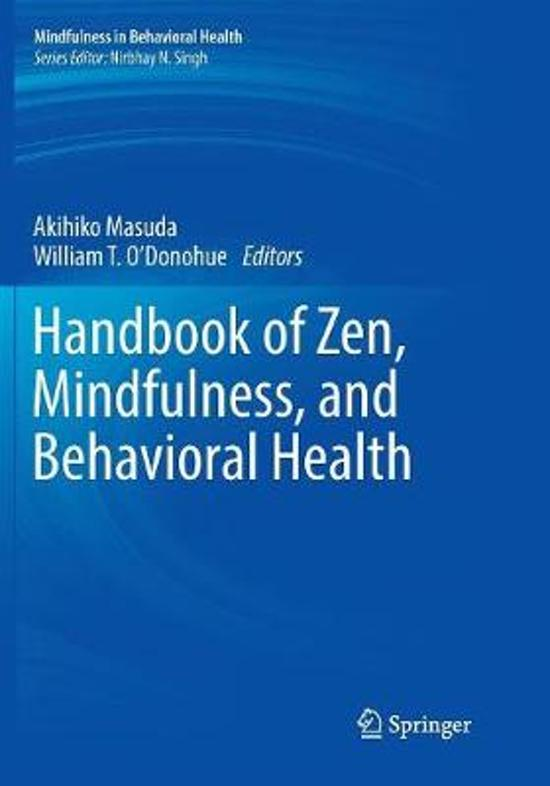 Handbook of Zen, Mindfulness, and Behavioral Health