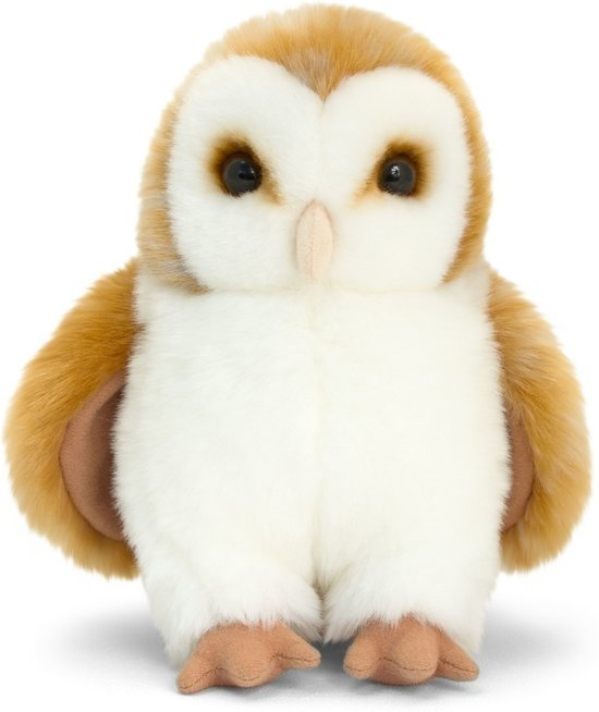 Keel Toys pluche kerkuil bruin uilen knuffel 28 cm - bosdier knuffeldieren - Speelgoed voor kind