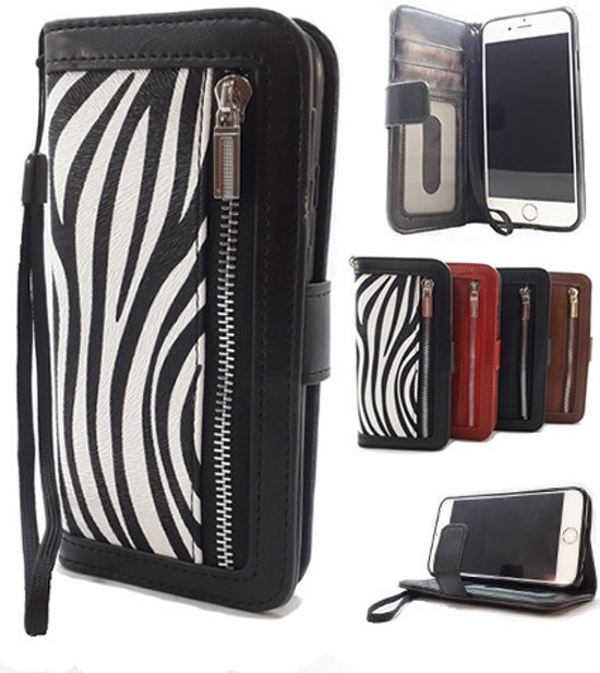 | Apple iPhone SE 5 5S Zebra print Wallet Book