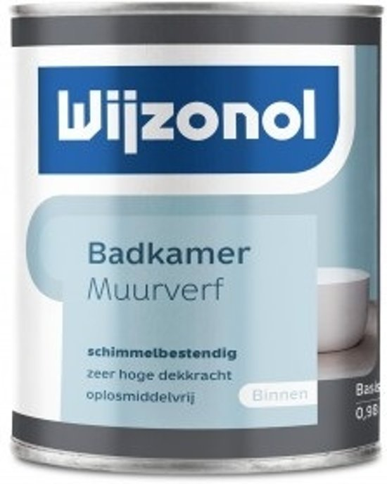 bol.com | Wijzonol Muurverf Badkamer RAL 9010 Gebroken wit 1 Liter