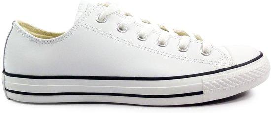 13e1b73102e bol.com | Converse - Unisex Sneakers All Star Leather Ox White - Wit ...
