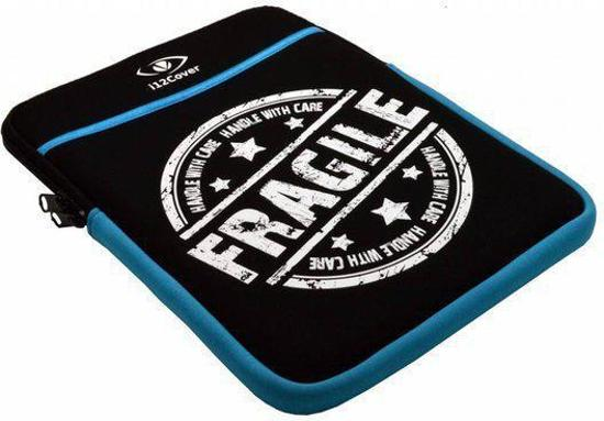 Neopreen Sleeve met Fragile motief voor Prestigio Multipad Visconte Pro in Voorstonden