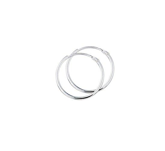 The Jewelry Collection Oorringen Ronde Buis - Zilver