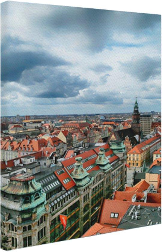 FotoCadeau.nl - Stadsgezicht van Wroclaw Polen Canvas 60x80 cm - Foto print op Canvas schilderij (Wanddecoratie)