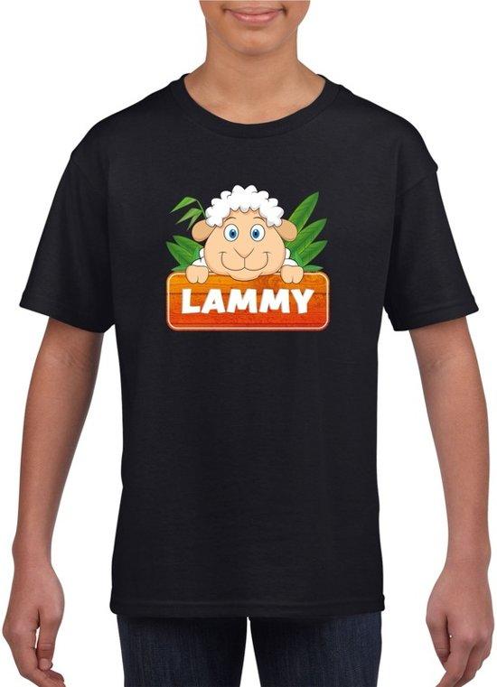 Lammy het schaapje t-shirt zwart voor kinderen - unisex - schapen shirt XL (158-164)