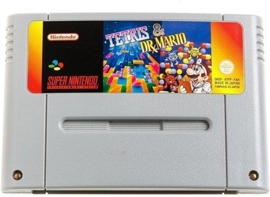 Tetris & Dr. Mario - Super Nintendo [SNES] Game PAL
