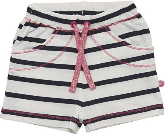 Minymo - meisjes short - YD stripe - wit blauw - Maat 86