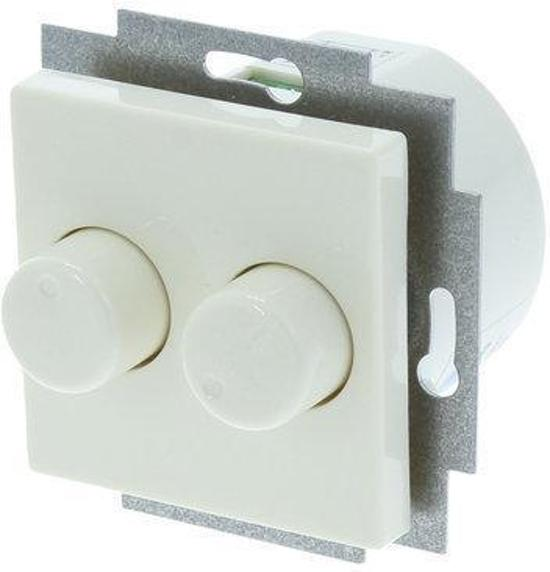 inbouw dimmer duo geschikt voor jung as500 tot 2 x 150w universeel cr me. Black Bedroom Furniture Sets. Home Design Ideas