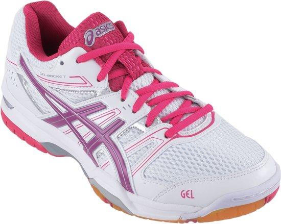 Asics Gel-Rocket 7 Sportschoenen - Maat 35.5 - Vrouwen - wit/roze