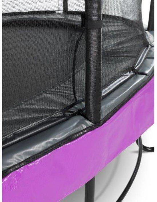 EXIT Elegant Premium trampoline 244x427cm met veiligheidsnet Economy - paars